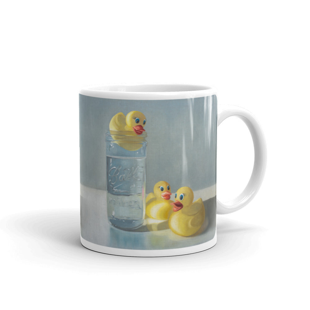 Rubber Duckies and Jar Painting Coffee Mug