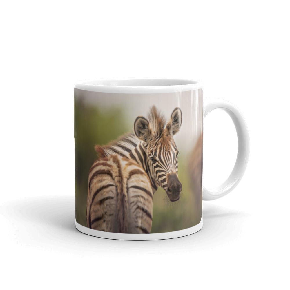 Peekaboo Zebra Photo Coffee Mug