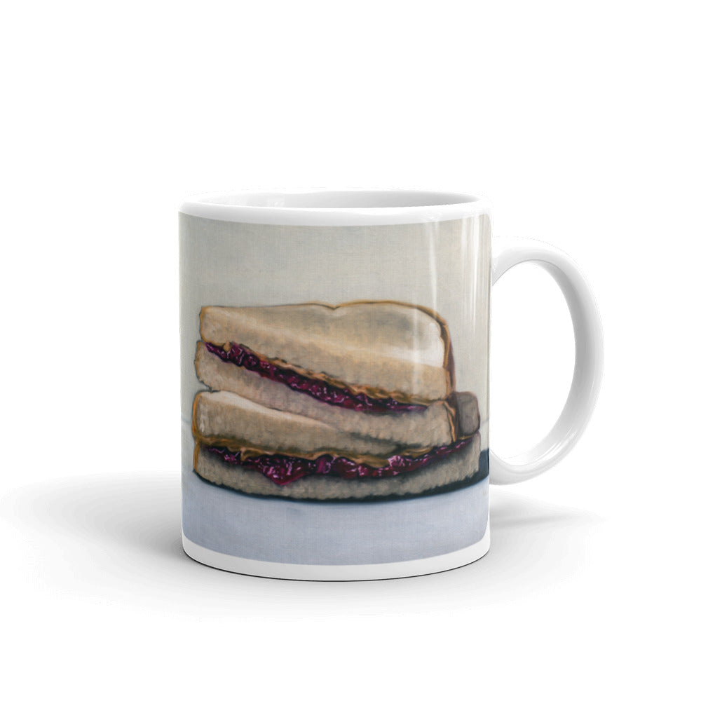 Peanut Butter and Jelly Sandwich Painting Coffee Mug