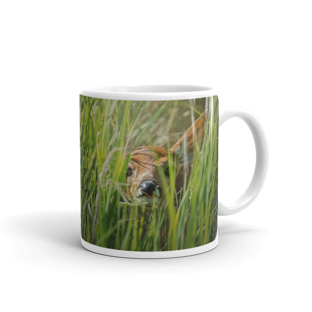 Peekaboo Deer Photo Coffee Mug