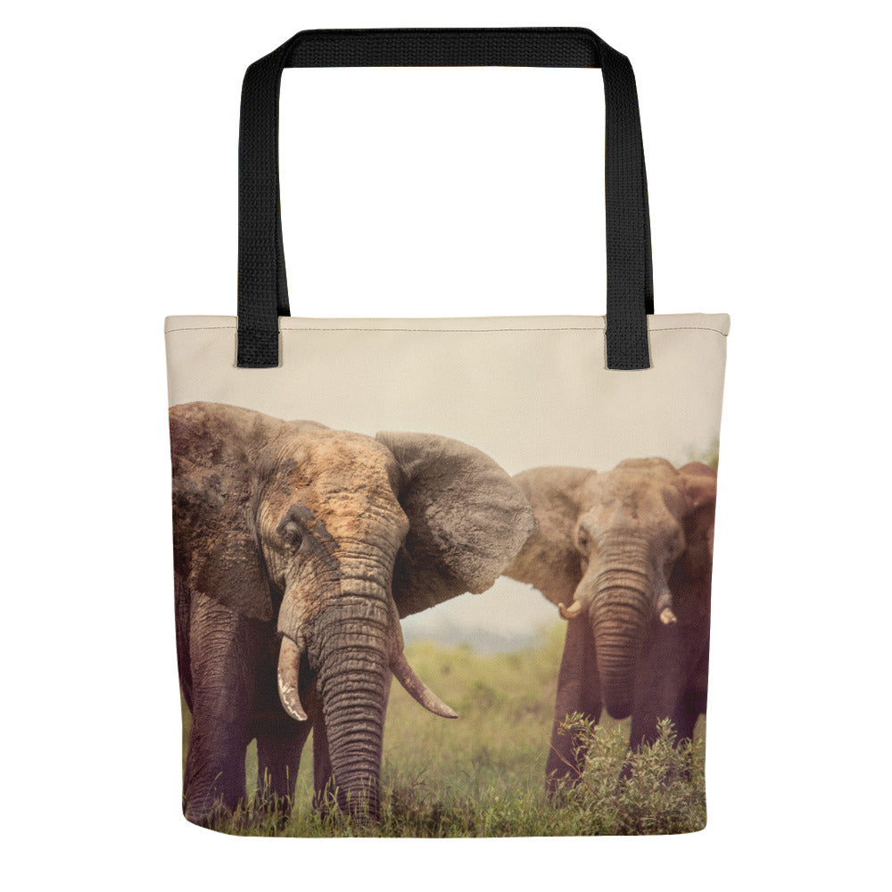 Pair of Elephants Photo Tote Bag