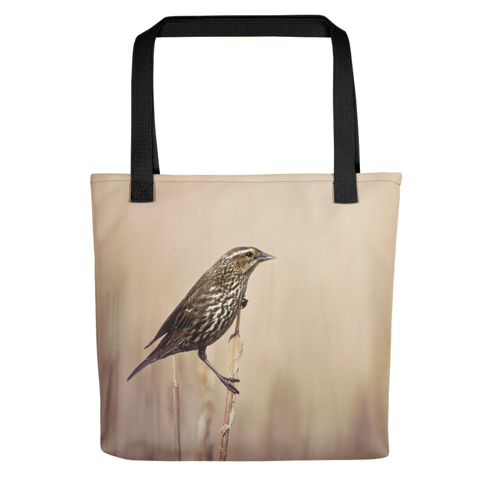 Red Winged Blackbird Photo Tote Bag