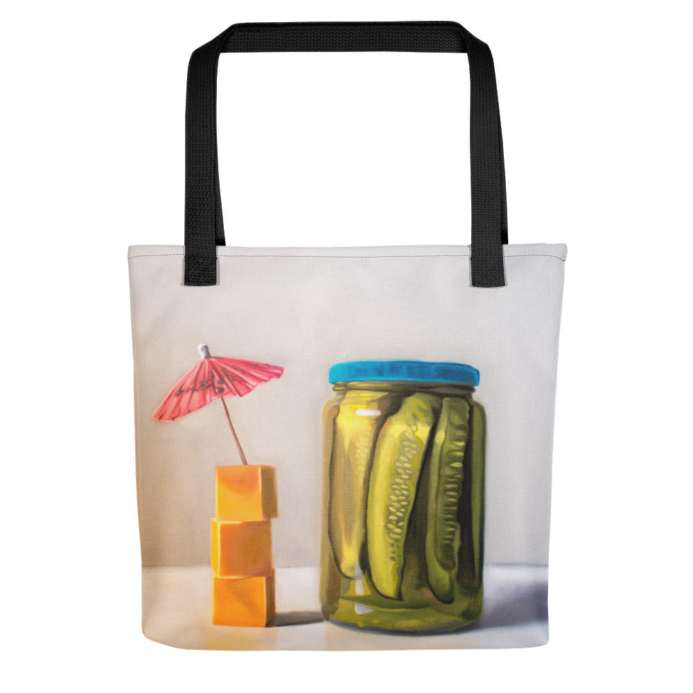 Pickles and Cheese Painting Tote Bag