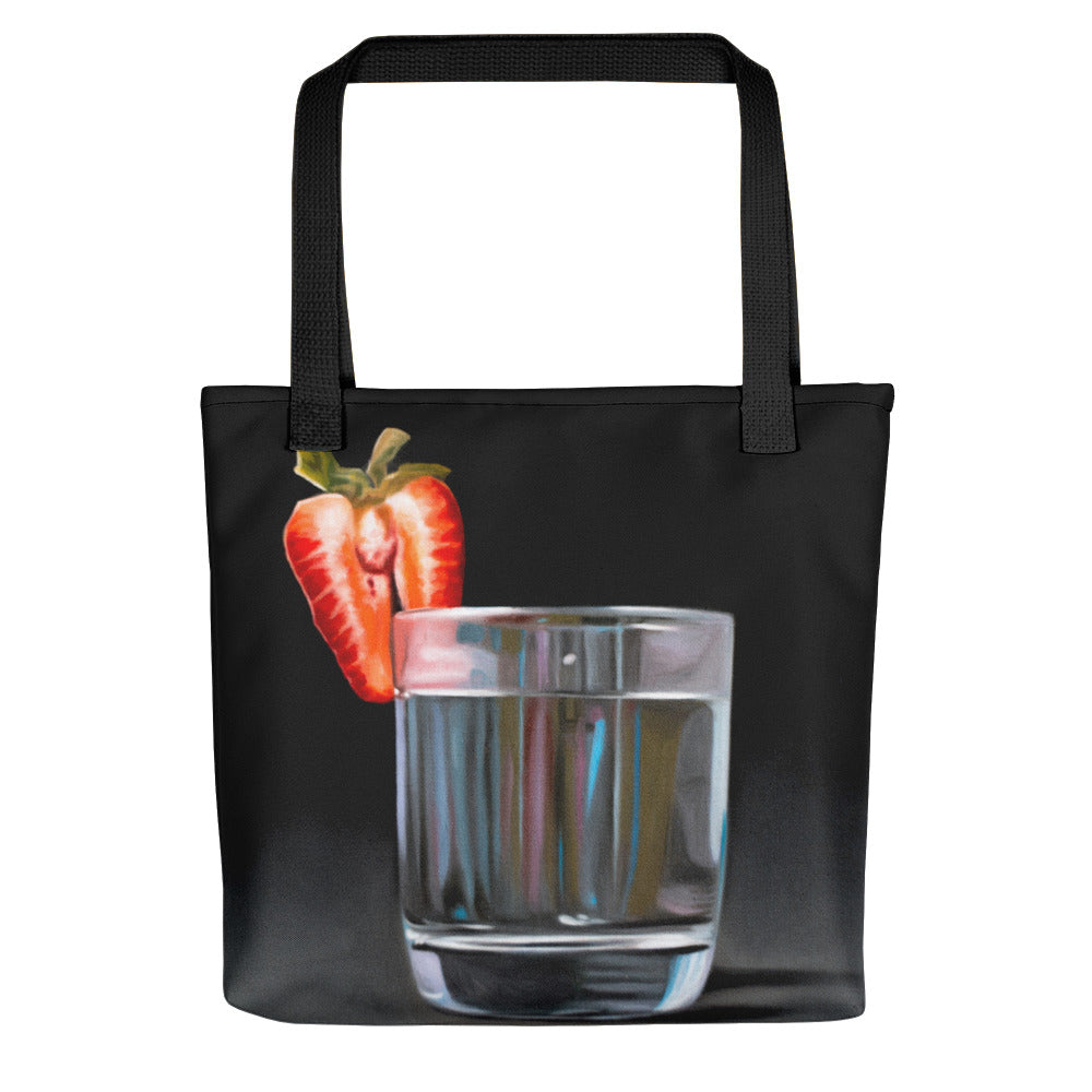 Strawberry Tonic Painting Tote Bag