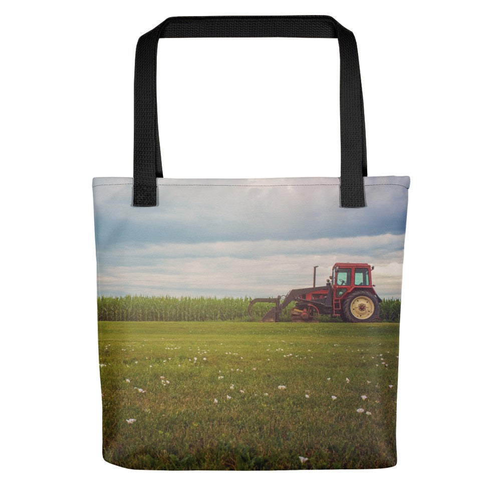 Old Country Tractor Photo Tote Bag