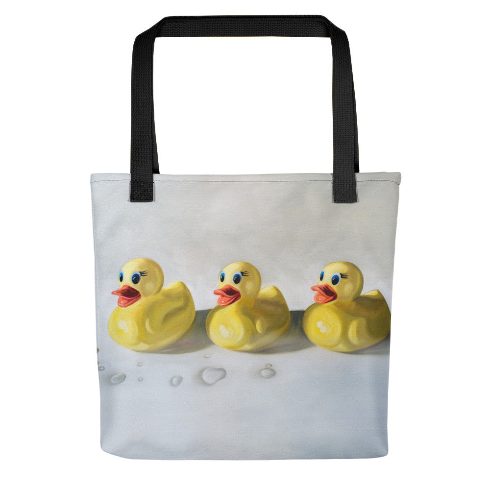 Rubber Ducky Painting Tote Bag