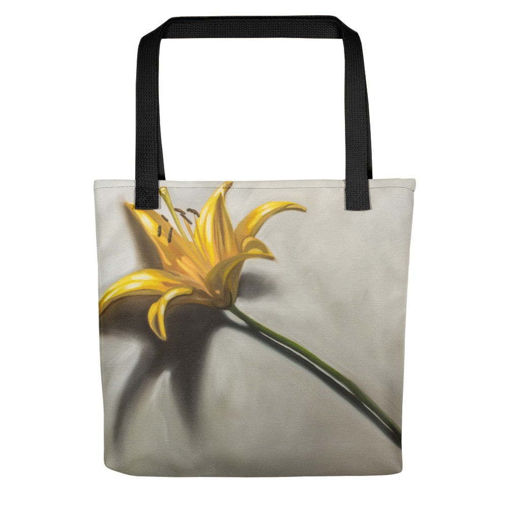 Yellow Lily Painting Tote Bag