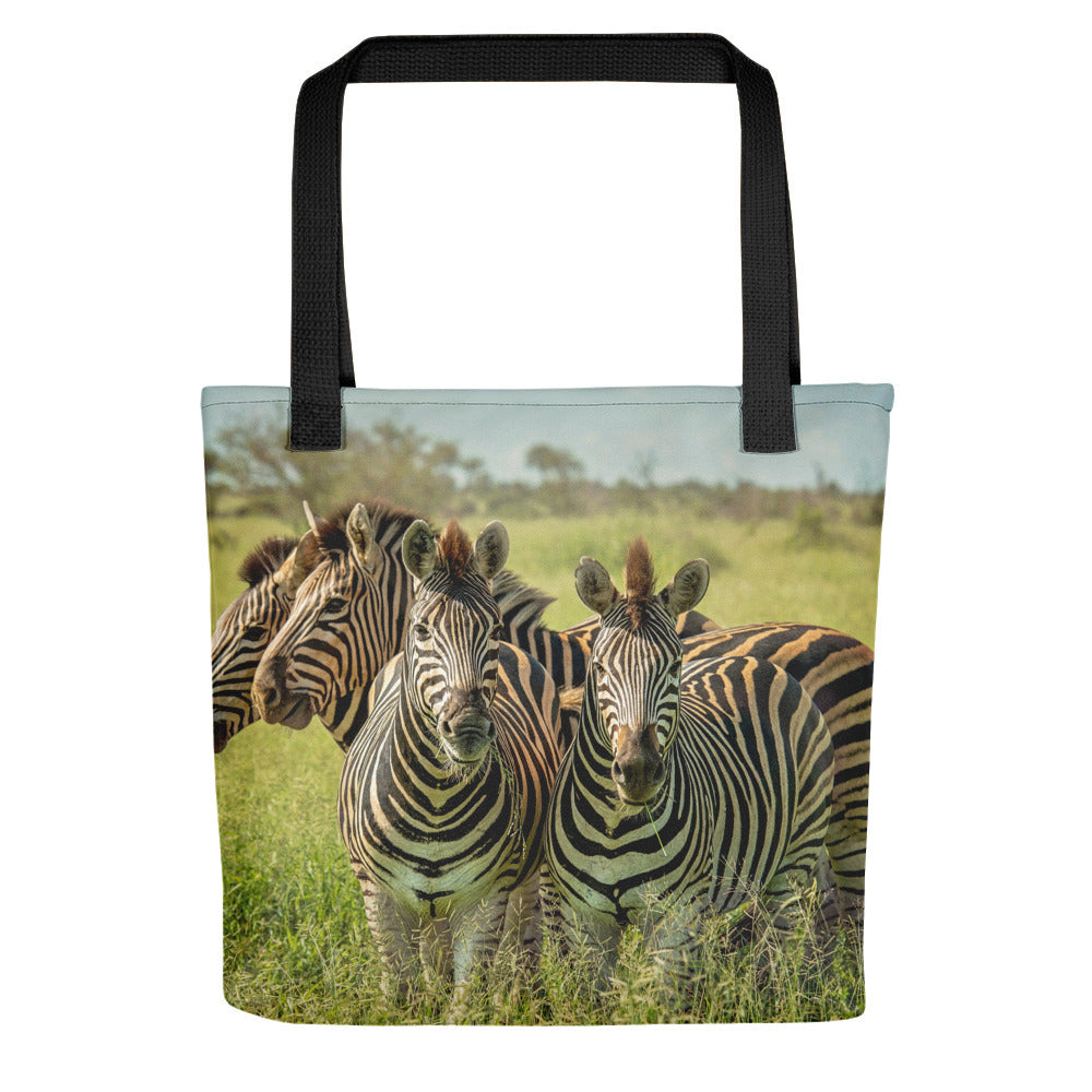 Mother and Baby Zebra Photo Tote Bag