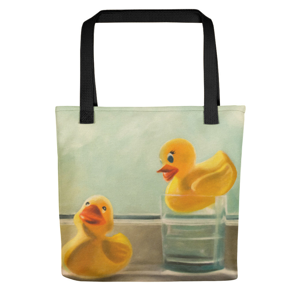 Rubber Ducky Pair Painting Tote Bag