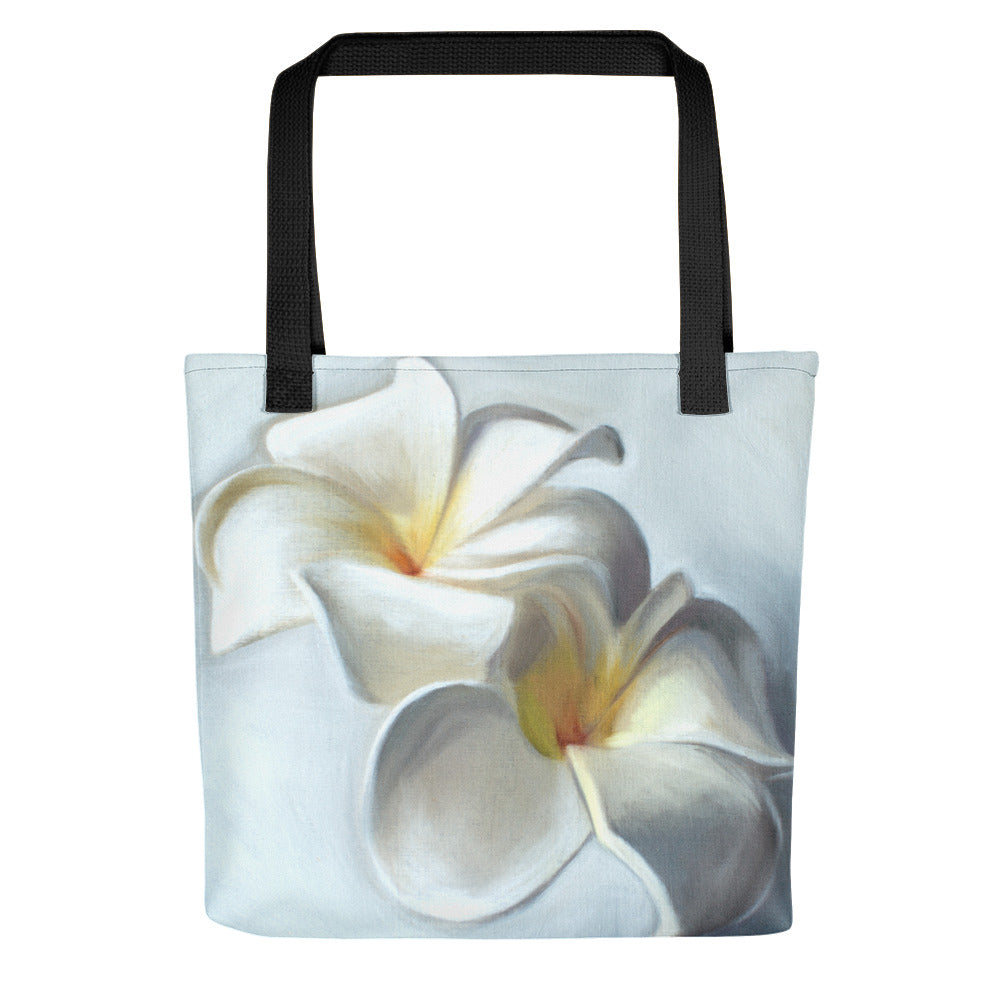 Plumeria Blossoms Painting Tote Bag