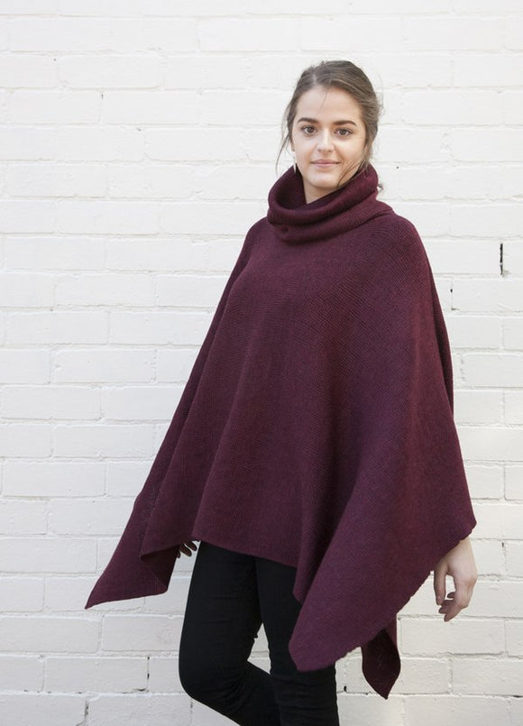 ROLL NECK OVERSIZE PONCHO