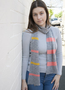 SHEEP-ISH STRIPED SCARF