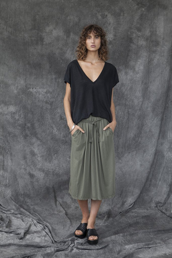 SLIM LINEN PONCHO TOP