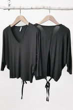 TLUXE WRAP BAT WING TOP