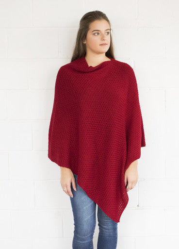 SHEEP-ISH TEXTURED MERINO PONCHO