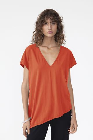 Deep Vee Asymmetric Organic Cotton Top