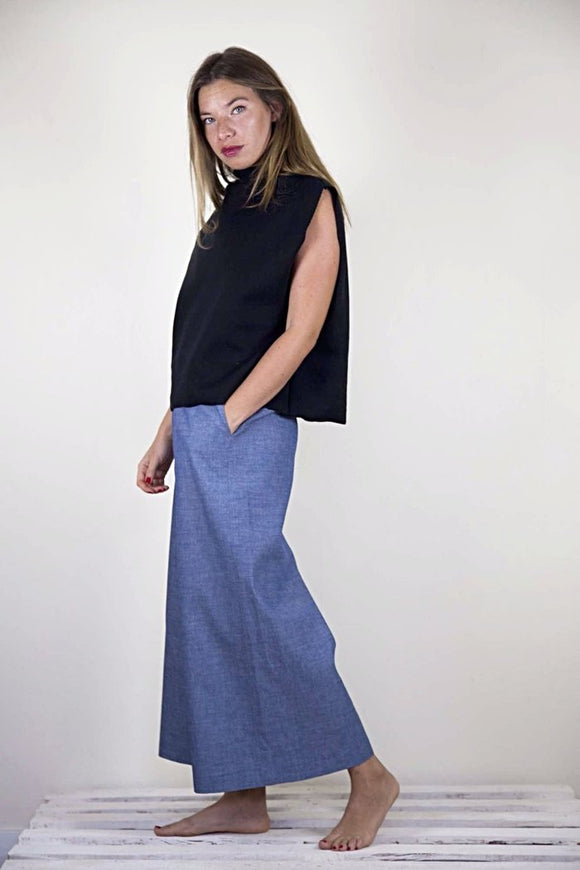 ROMY CULOTTE - BLUE CHAMBRAY