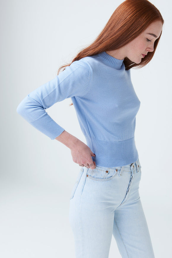 MCINTYRE 'THE POLLY' CROPPED MERINO SWEATER