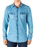 RINGERS WESTERN MENS LONG SLEEVE CHAMBRAY SHIRT