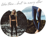 SALT GYPSY LIBBY NAVY STAR PRINT LEGGING