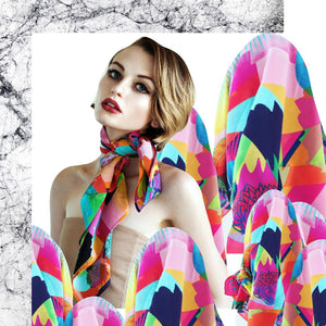 LETITIA GREEN SUGAR POP SILK SCARF