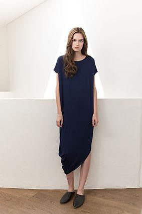 Tluxe Asymmetric Drape Dress