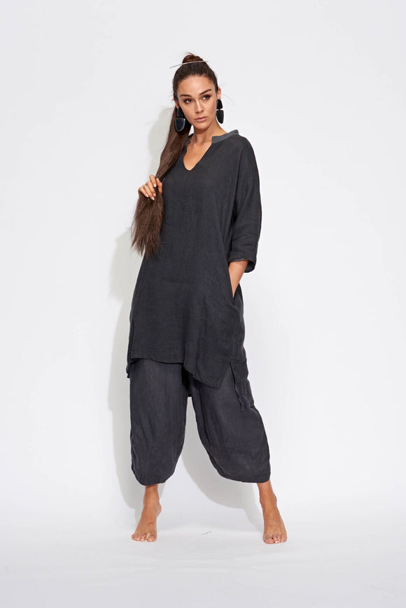 Banana Blue Charcoal Wide Leg Pant
