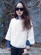 CHUNKY 3/4 SLEEVE HAND KNIT JUMPER