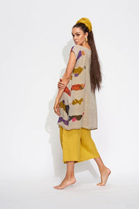 Geometric Boat Necked Tunic featuring Banana Blues Ladies Print