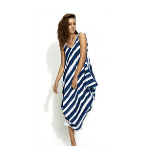 Banana Blue Linen Striped Dress