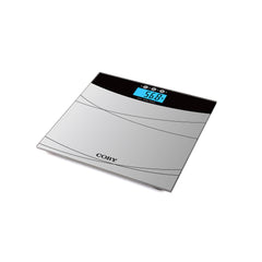 Black Digital Glass BMI Bathroom Scale With 4 Color Changing LCD Display