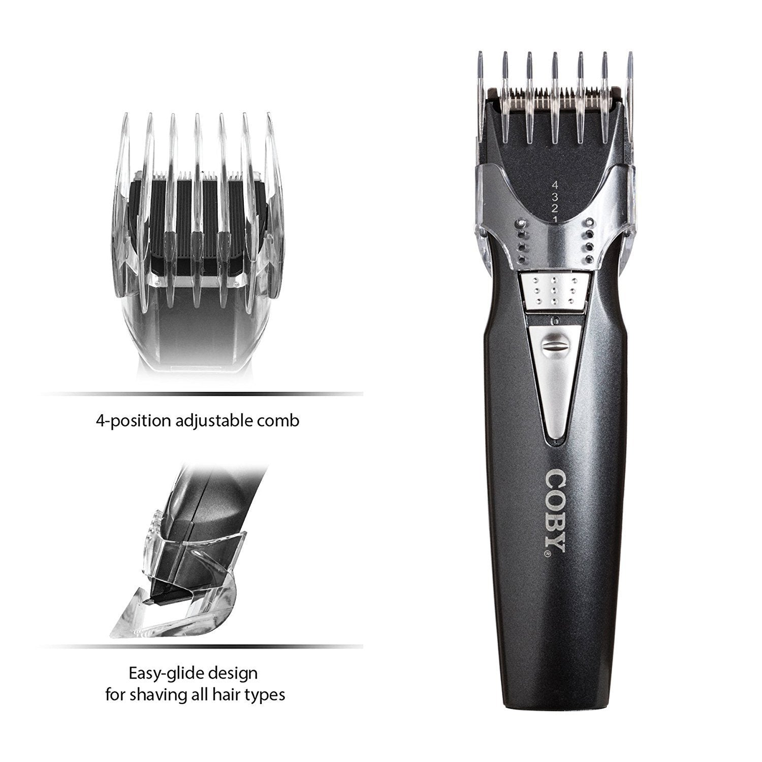 COBY MAX Series Battery Operated Hair & Body Groomer