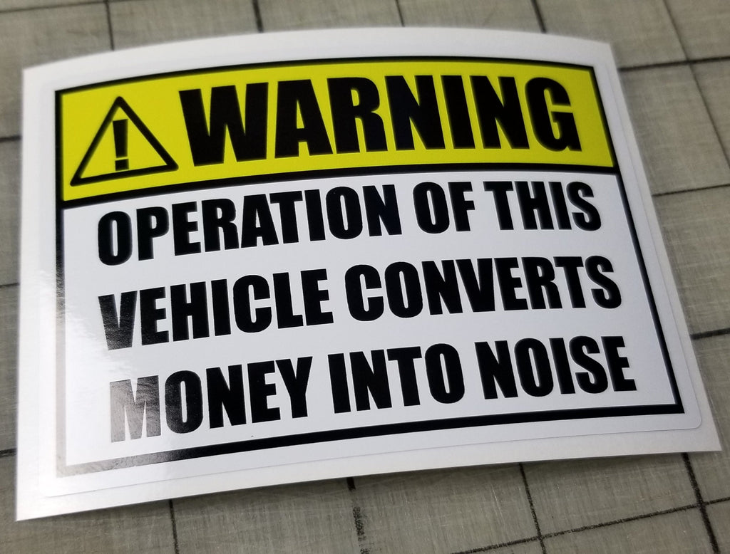 Warning: Money Into Noise