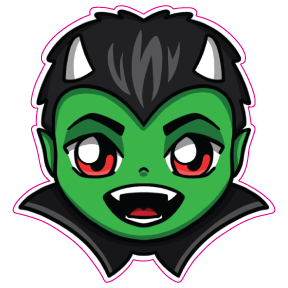 AntiNuLL Chibi Demon Sticker