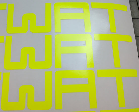 "Limited Edition ""Day Glow Yellow"" WAT Original logo"