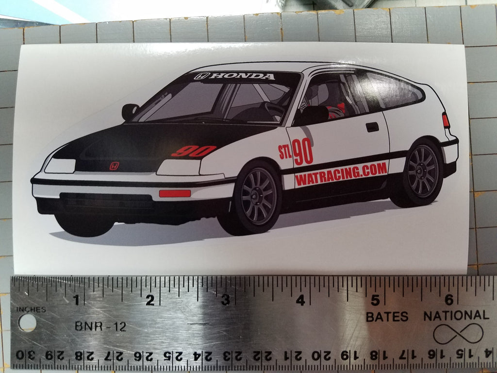 WAT Racing CRX Sticker