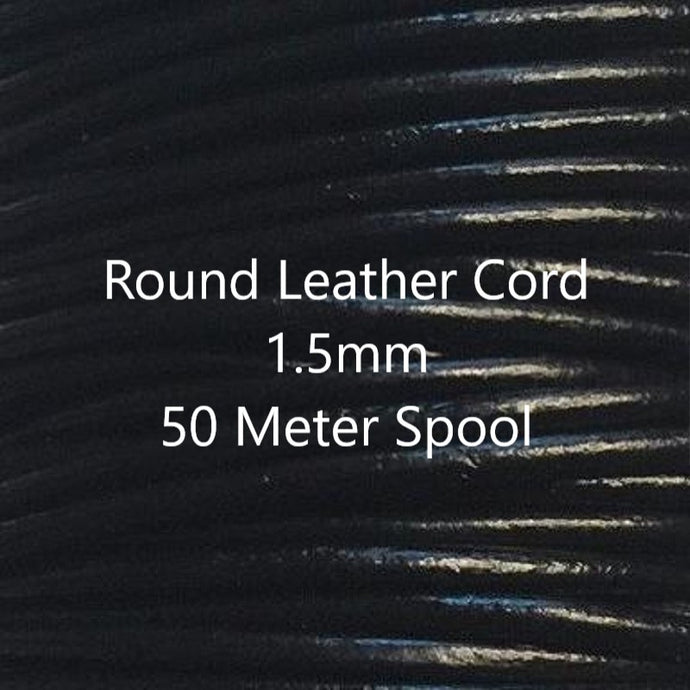 54 yards Gray Metallic Round Leather Cord 1.0mm 50 meters