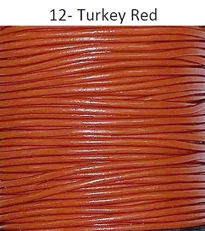 0.5 mm Round Leather Cord 100 Meter per Spool Red Brown Color RGL Series
