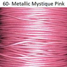 11 yards Pink Two Tone Petal Round Leather Cord 1.5mm 10 meters