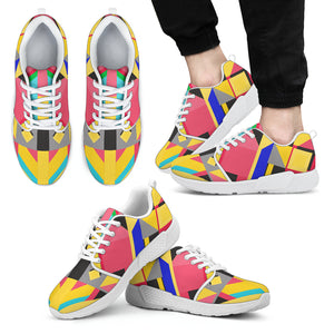 Men's Kaleidoscope Athletic Sneakers White - JaZazzy