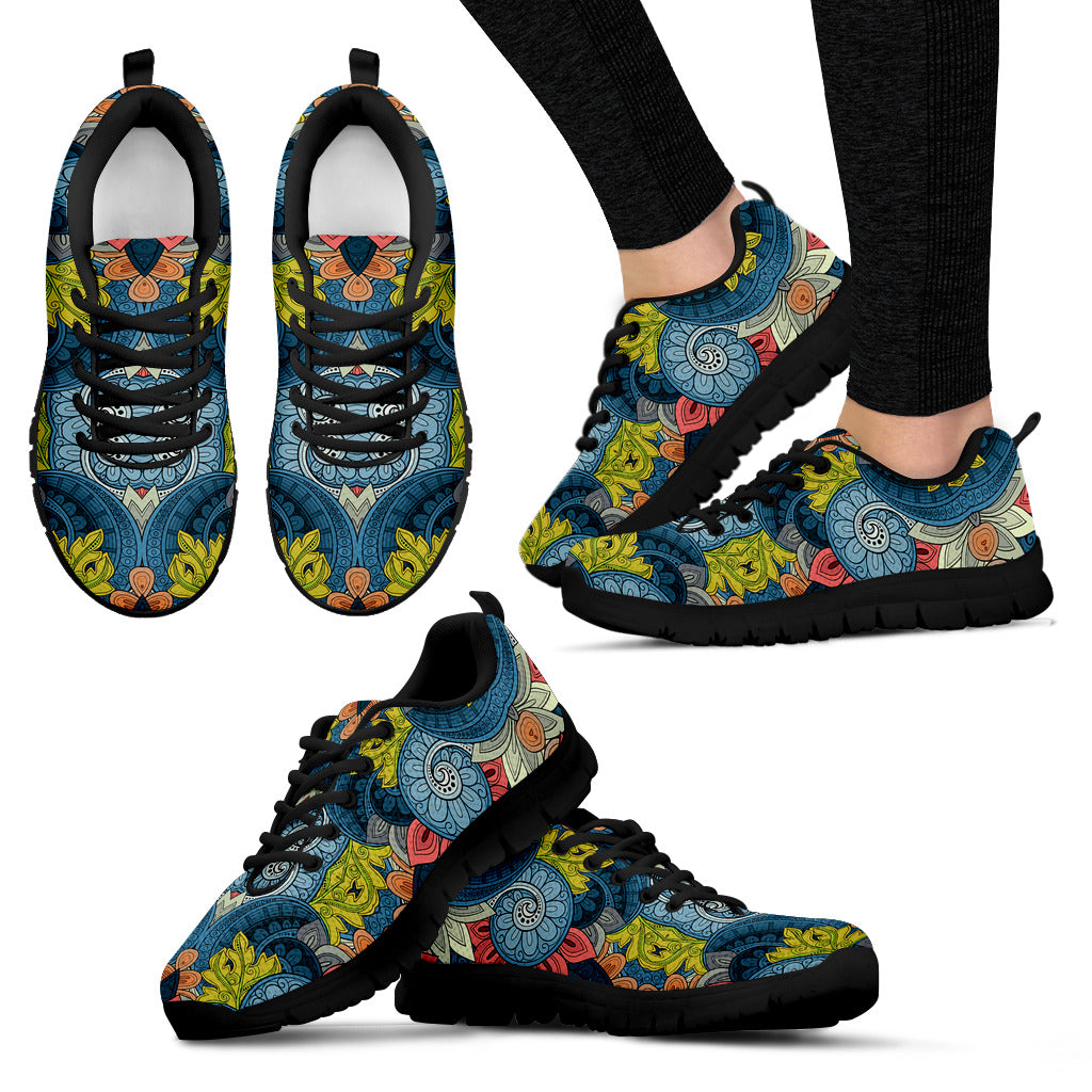Abstract Tribal Pattern Boho Sneakers - JaZazzy