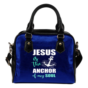 NP Jesus Is The Anchor Leather Shoulder Handbag - JaZazzy