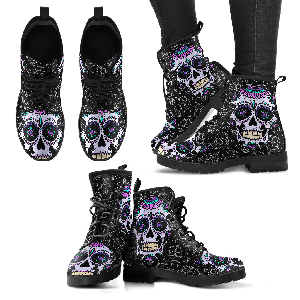 Sugar Skull Handcrafted Boots Limited Edition - JaZazzy