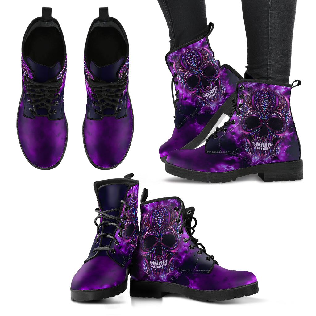 Oriental Skull Handcrafted Boots V2 - JaZazzy