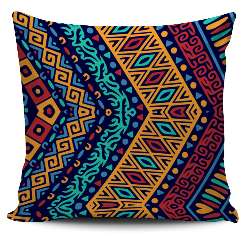 Blue Boho Patterned Pillow Cover - JaZazzy
