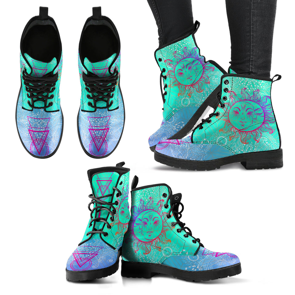 Sun & Moon V8 Handcrafted Boots - JaZazzy