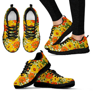 Orange Buttercup Women's Sneakers - JaZazzy