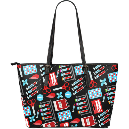 Phlebotomist Large Leather Tote Bag - JaZazzy