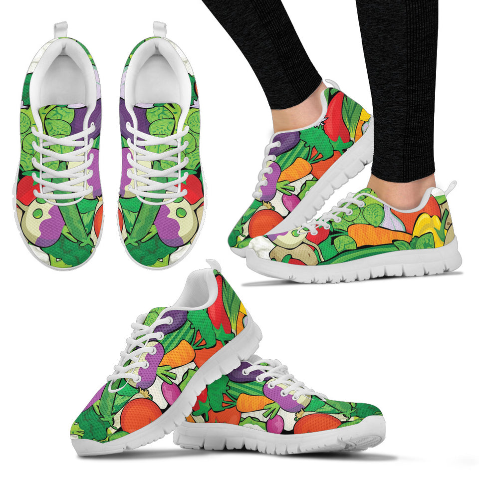 Women White Veggie Sneakers - JaZazzy