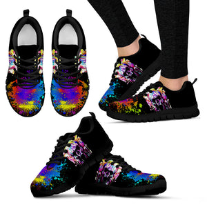 Colorfull Skull Handcrafted Sneakers. - JaZazzy